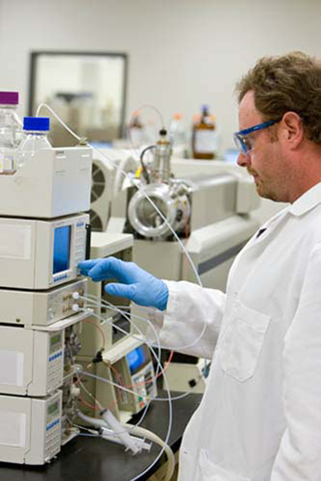 Man at Mass Spectrometer